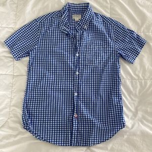 Blue Check Short Sleeve Button Down Crewcuts